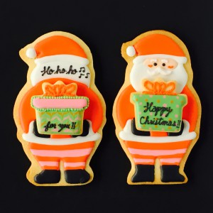 【12月 アイシングクッキー名古屋レッスンンはクリスマスです】 サンタさんは大忙し!